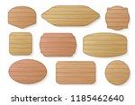 wooden stickers label... | Shutterstock .eps vector #1185462640