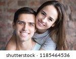head shot portrait of young...   Shutterstock . vector #1185464536