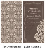 wedding invitation cards ... | Shutterstock .eps vector #1185465553