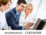 young business people discuss... | Shutterstock . vector #118546588