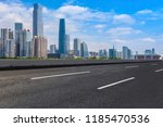 road pavement and guangzhou... | Shutterstock . vector #1185470536