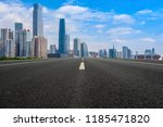 road pavement and guangzhou... | Shutterstock . vector #1185471820