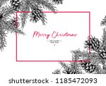 christmas holiday greeting card ... | Shutterstock .eps vector #1185472093