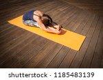 young  woman in bodysuit... | Shutterstock . vector #1185483139