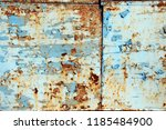 a rusty wall. blue and white... | Shutterstock . vector #1185484900