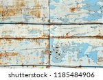 a rusty wall. blue and white... | Shutterstock . vector #1185484906