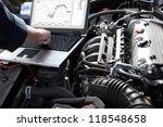 professional car mechanic...   Shutterstock . vector #118548658
