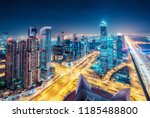 spectacular urban skyline with... | Shutterstock . vector #1185488800