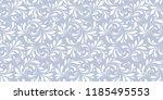 seamless monochrome floral... | Shutterstock .eps vector #1185495553