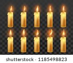 candle fire animation. burning... | Shutterstock .eps vector #1185498823