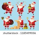 christmas santa cartoon... | Shutterstock .eps vector #1185499036