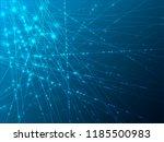 shine network background | Shutterstock .eps vector #1185500983