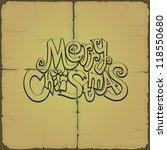 vector. merry christmas. | Shutterstock .eps vector #118550680