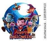 happy halloween night | Shutterstock .eps vector #1185509413