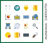 information icon. search and... | Shutterstock .eps vector #1185514753