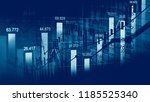 stock market or forex trading... | Shutterstock . vector #1185525340