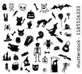 halloween doodle draw horror... | Shutterstock .eps vector #1185526333