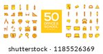 50 office   back to school icon ... | Shutterstock .eps vector #1185526369