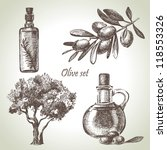hand drawn olive set | Shutterstock .eps vector #118553326