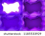set from the paper violet... | Shutterstock .eps vector #1185533929