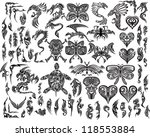 iconic dragons butterfly  eagle ... | Shutterstock .eps vector #118553884