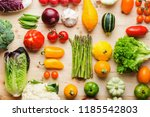 assortment of fresh colorful... | Shutterstock . vector #1185542803