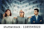 group of confused young people...   Shutterstock . vector #1185545023