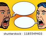 man scream face. african and... | Shutterstock .eps vector #1185549403