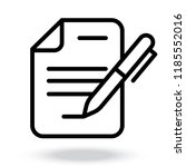 document icon. professional ... | Shutterstock .eps vector #1185552016