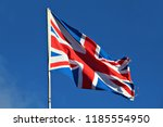 the flag of the united kingdom  ... | Shutterstock . vector #1185554950