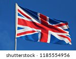 the flag of the united kingdom  ... | Shutterstock . vector #1185554956