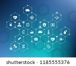 electronic healthcare vector... | Shutterstock .eps vector #1185555376