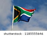national flag of south africa... | Shutterstock . vector #1185555646