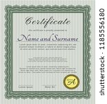 green awesome certificate... | Shutterstock .eps vector #1185556180