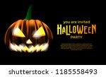 halloween invitation template...   Shutterstock .eps vector #1185558493