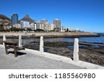 high rise buildings and... | Shutterstock . vector #1185560980
