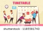 timetable vector illustration... | Shutterstock .eps vector #1185581743