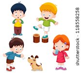 illustration of characters kids ... | Shutterstock .eps vector #118558258