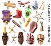 voodoo african occult practices ... | Shutterstock .eps vector #1185584650