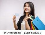 happiness  consumerism  sale... | Shutterstock . vector #1185588313