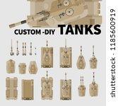 vector illustration of tanks ... | Shutterstock .eps vector #1185600919