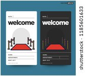 welcome with red carpet vector... | Shutterstock .eps vector #1185601633