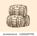 vector hand drawing wood old... | Shutterstock .eps vector #1185609790
