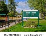 sign of trent severn waterway... | Shutterstock . vector #1185612199