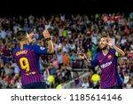spain  barcelona   september 18 ...   Shutterstock . vector #1185614146