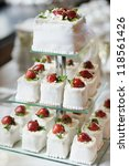 delicious fancy wedding cake... | Shutterstock . vector #118561426