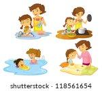 illustration of girls on a... | Shutterstock . vector #118561654