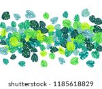 turquoise tropical jungle... | Shutterstock .eps vector #1185618829