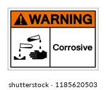 warning corrosive symbol sign ... | Shutterstock .eps vector #1185620503