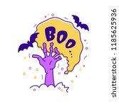 halloween greeting card boo...   Shutterstock .eps vector #1185625936